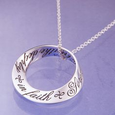 inscribed with a prayer by Soren Aabye Kierkegaard. Soren Aabye Kierkegaard was a highly influential 19th century Danish philosopher, man of letters, social commentator and theologian. This necklace has a serenity and spareness worthy of one of the seminal thinkers of western philosophy. #Christmas #gift #gifts #religious #jewelry #neckalce