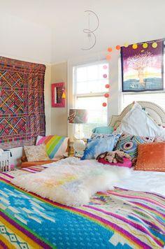 most beautiful interior design bedroom - Internal Home Design Boho Style Apartment, Hippie Home Decor, Guest Bedroom Design, Boho Bedroom, Bohemian Bedroom Decor, Bedroom Decor, Household Decor, Home Decor, Rustic Bedroom Design