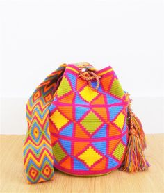 wayuu mochila bag colourful