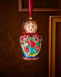 Russian Nesting Doll Christmas Ornament by Jay Strongwater at Neiman Marcus.
