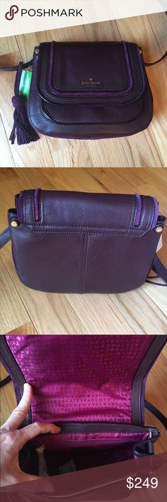 NEWKate Spade Rianne NEWKate Spade Rianne. From the 2016 Fall Collection. Beautiful 100% leather and suede Crossbody. Adjustable strap. Beautiful deep wine color.  no tradeno lowball offers kate spade Bags Crossbody Bags