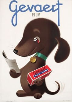 Gevaert Film - vintage ad - Donald Brun, of course