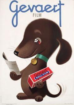 Gevaert Film - vintage ad - Donald Brun, of course