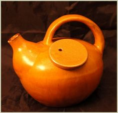 Unusual Pottery Teapot with Side Fill Opening. $39.99 on GoAntiques. #pottery #vintage