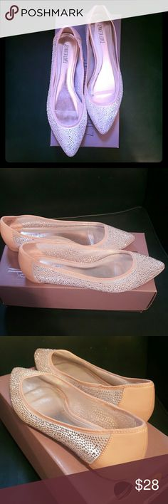 8.5 SPARKLING SEE THREW FLATS BY JLO only worn once for an hour... These stunning flats can be worn to dress up or add some Sparkle to a casual outfit... Whole shoe made of a super soft see threw material. Then blessed with hundreds of tiny sparkles in silver. nude leather outline. Just GORGEOUS!! Jennifer Lopez Shoes Flats & Loafers