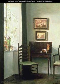 Sunlit Interior - Carl Vilhelm Holsoe