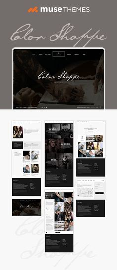 102 Best Adobe Muse Templates Images In 2019 Adobe Muse Design