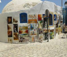 Exposition de rue. Tunisie.