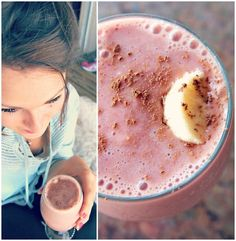 Undressed Skeleton — 82 Calorie Strawberry Banana Cocoa Smoothie - Healthy & Light