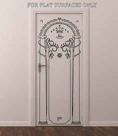 Lord of The Rings Gates of Moria Hobbit Door or Wall Art Decor Decal | eBay