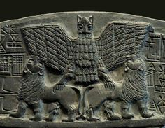 Bird of prey and lions Ancient Near East, Ancient Art, Ancient Egypt, Ancient History, Sumerian King List, Potnia Theron, Architecture Antique, Ancient Discoveries, Creation Myth