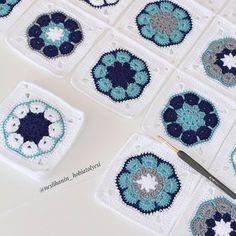 Crochet baby blanket crochet baby afghan in purple aqua – Artofit Baby Afghan Crochet, Manta Crochet, Crochet Squares, Crochet Blanket Patterns, Crochet Motif, Crochet Designs, Knitting Patterns, Knit Crochet, Easy Crochet