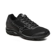 Men's Mizuno Wave Rider 19 Lightweight Running Shoe -  - Black/Grey