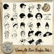 Women Art Deco Brushes Hats 1