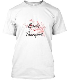 Sports Therapist Heart Design White T-Shirt Front - This is the perfect gift for someone who loves Sports Therapist. Thank you for visiting my page (Related terms: Professional jobs,job Sports Therapist,Sports Therapist,sports therapists,myjobs.com,,jobs,I love Sp ...)