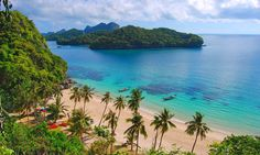 Ang Thong National Marine Park is located in the Gulf of Thailand within the Koh Samui archipelago of Islands that also includes the famous party Islands of Koh Samui and Koh Phangan as well as the picturesque Koh Tao and Koh Nang Yuan. More info at: https://islandinfokohsamui.com/2015/12/11/emerald-lake-mu-koh-ang-thong-national-marine-park/