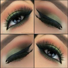 Motive ink cup mineral eyeshadow - Green Smokey Eyes by Miss Mae in the mot . - Motive Farbtopf Mineral Eyeshadow – Green Smokey Eyes by Miss Mae in the motifs Paint Pot Eye Sha - Gorgeous Makeup, Pretty Makeup, Love Makeup, Makeup Tips, Makeup Looks, Makeup Tutorials, Green Makeup, Makeup Ideas, Fall Makeup