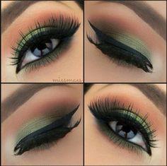 soft green makeup