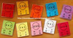 Hoy os enseño unas tarjetas de elección múltiple que he hecho para reforzar el aprendizaje de las tablas de multiplicar, con las que estamos...