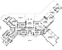 5brs55 baths almost 600 sqft all on one floor large floor plansranch - Large House Plans