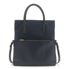 """One bag to fit every outfit. Finished with an adjustable strap and two textures of pebbled and nubuck leather, this versatile tote can be carried upright (when you need to stash work documents) or folded and slung cross-body (when you want to go hands-free on the weekend). Need an evening option? Take the strap off altogether and use it like a clutch. Yeah—we weren't kidding when we said """"versatile."""" <ul><li>Removable, adjustable strap.</li><li>4 1/2"""" handle drop for short , 18 1/2"""" handle…"""