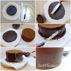 Ganache 2 Chocolate Fondue, Chocolate Cake, Baking Recipes, Cake Recipes, How To Make Cake, Muffins, Pudding, Ice Cream, Sweets