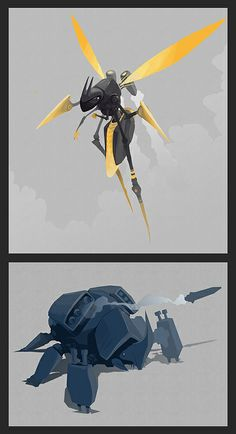 GHAMON: Robot bug concepts