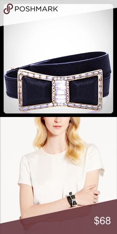 NWT Kate Spade Jewel Bow Wrap Bracelet Gorgeous black leather Kate Spade Jewel Bow Wrap Bracelet in original dust bag with tags.  Fully adjustable length. kate spade Jewelry Bracelets