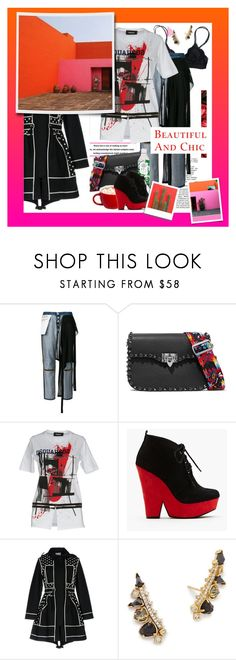 """""""ᶯᶱ 864"""" by it-is-just-me ❤ liked on Polyvore featuring Current Mood, Unravel, Valentino, Dsquared2, RED Valentino and Kendra Scott"""