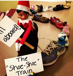 All aboard the shoe shoe train