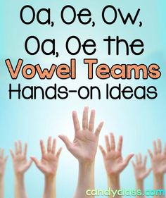 Oa, Oe, Ow, Oa, Oe The Vowel Teams – The Candy Class Plenty of great hands-on games and activities for teaching the vowel teams with the long vowel sound in a first grade classroom or other grade levels too. Fun Phonics Activities, Phonemic Awareness Activities, Word Work Activities, Team Activities, Reading Activities, Phonics Games, Reading Strategies, Reading Skills, Teaching Reading