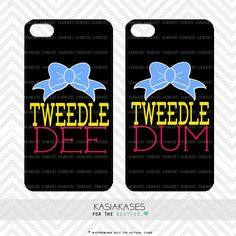 Bff Case / Tweedle DEE Tweedle DUM iPhone 4 Case by KasiaKases