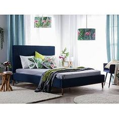 This modern bed is an ideal fit for every bedroom that aims for a perfect balance between elegance and simplicity. Super King Bed Frame, Super King Size Bed, Velvet Upholstered Bed, Upholstered Bed Frame, Velvet King Size Bed, Quilted Headboard, Beds Uk, Superking Bed, Velvet Furniture