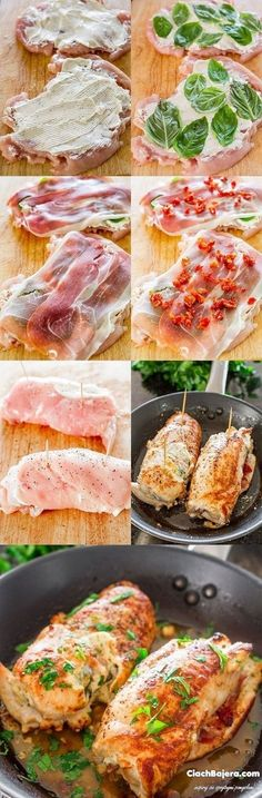 Cheese and Prosciutto Stuffed Chicken Breasts – an impressive dish for a Sunday night dinner or a Holiday. Delicious chicken rolls with a surprise filling. //Manbo Healthy Dinner Ideas for Delicious Night & Get A Health Deep Sleep I Love Food, Good Food, Yummy Food, Tasty, Great Recipes, Dinner Recipes, Dinner Ideas, Game Recipes, Pasta Recipes