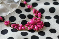 shift dress + statement necklace