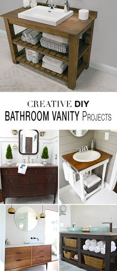 DIY Bathroom Vanity Projects • Learn how to save money and build a bathroom vanity! Tap the link now to see where the world's leading interior designers purchase their beautifully crafted, hand picked kitchen, bath and bar and prep faucets to outfit their unique design