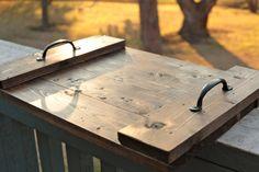 Bandeja de madera rústica