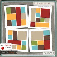 $2.00 Blocked Backs v.1 (Bundle) by keepscrappin designs