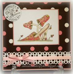 Digi image from the Fabulous Shoes CD from Katy Sue Designs, coloured with ProMarkers.