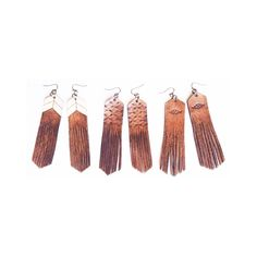 """4 Likes, 1 Comments - Sweet Creek Leather (@sweetcreekleather) on Instagram: """"What's your favorite style of """"Free Bird"""" Leather Fringe Earrings...Chevron, Aztec, or Native? *we…"""""""