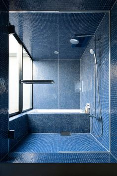 I like this shade of blue, but the little tiles are too much, I'd take something bigger + less the blue color anyways