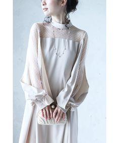 【楽天市場】【再入荷♪6月2日12時&22時より】「frenchpave」デコルテから流れるシアーベールのスリット袖ワンピース2月16日22時販売新作:cawaii Victorian, Dresses, Fashion, Dress, Vestidos, Moda, Gowns, Fasion, Gown