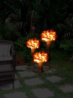 Beer or Wine  Bottle Tree -LIKE THIS!!!  will use cobalt BLUE BOTTLES, will add electric mini lights to create this effect at night! Gotta start collecting bottles (45 needed for each cluster) unless one orders online /rather pricey!
