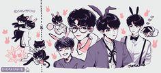 ❤️❤️❤️ Seokjin, Hoseok, Namjoon, Taehyung, Bts Drawings, Cartoon Drawings, K Pop, Pop Kpop, Army Drawing