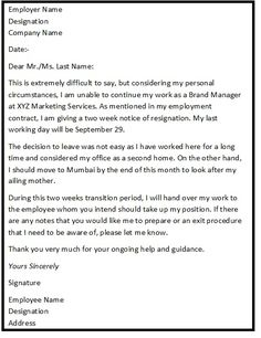 Letters Of Resignation Samples Resignationletter Help Resignationlett On Pinterest
