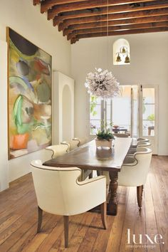 Sculptural Dining Room Chandelier