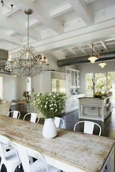 Nice kitchen and the ceiling is really interesting in design but keeping it clean would be a lot of work......