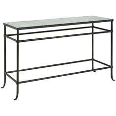 Currey and Company Aquarius Textured Bronze Console Table 4178