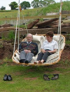 Double Hammock Chair  Except be Better if painted bright colors  ropes part a bright color too
