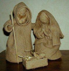 burlap nativity